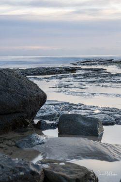 Subtle sunrise on the rocks at Mooloolaba