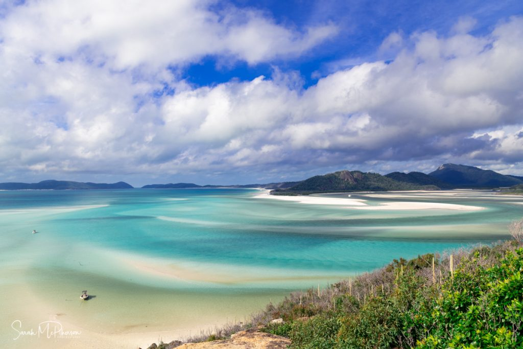 Swirling sands of Hill Inlet on Whitsunday Island